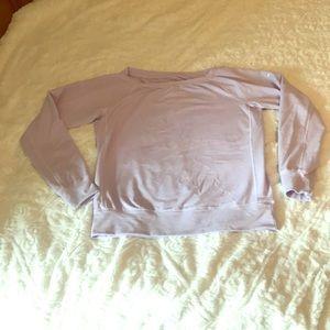 Nike Dri Fit Scoop Neck Lavender Sweatshirt